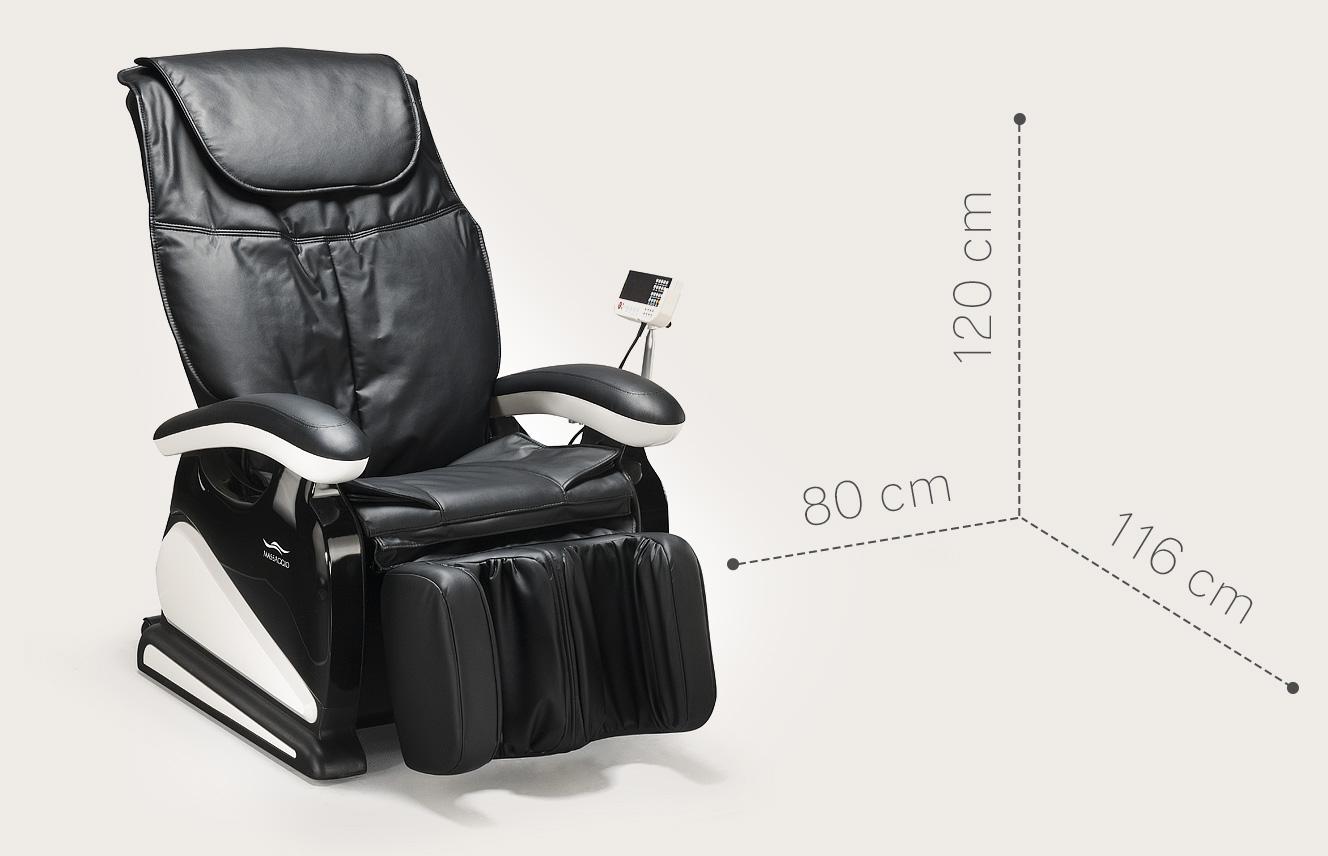 Fotel masujący Massaggio Bello - kompaktowe wymiary