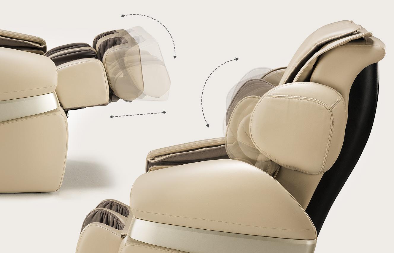 Fotel masujący Massaggio Convenniente - dopasowanie do wzrostu