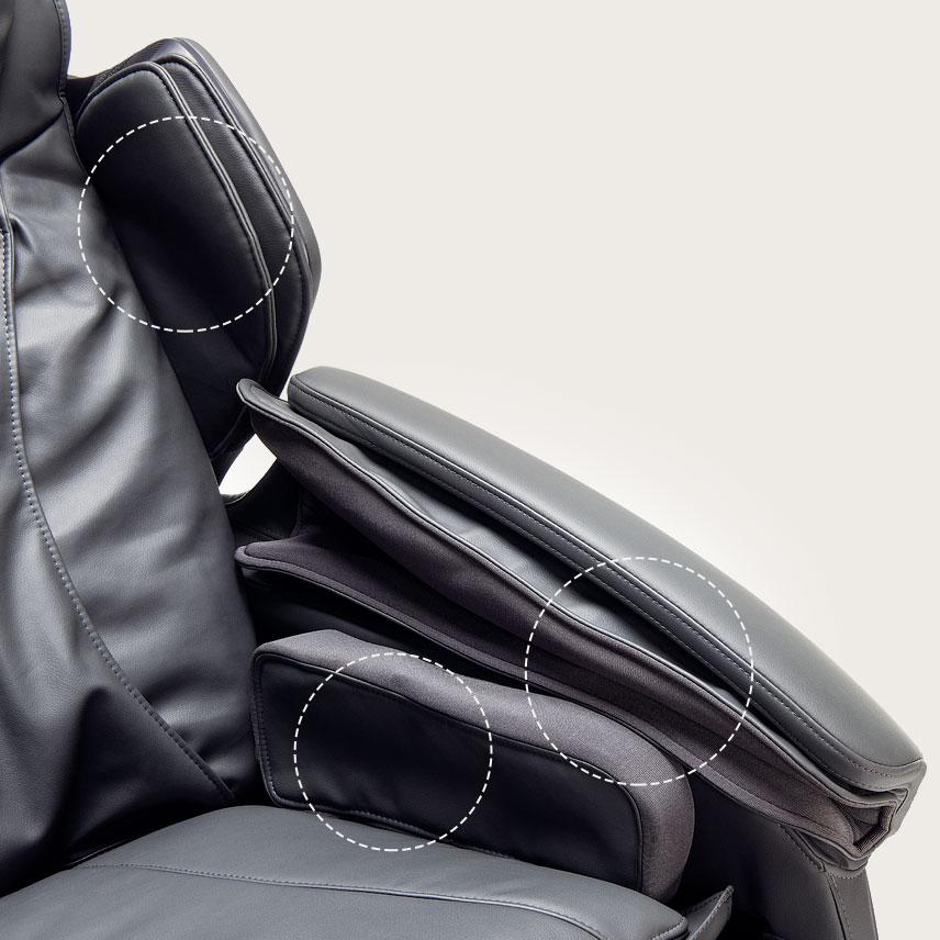 Fotel masujący Massaggio Stravagante - masaż poduszkami powietrznymi