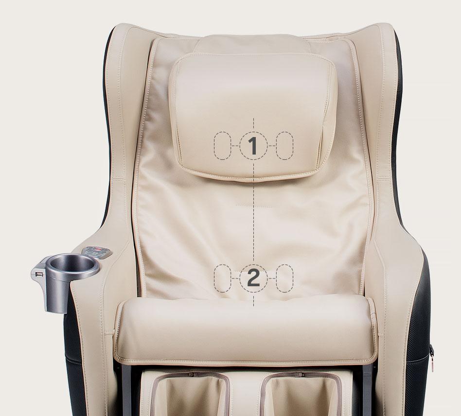 Fotel masujący Massaggio Ricco - podwójny masażer