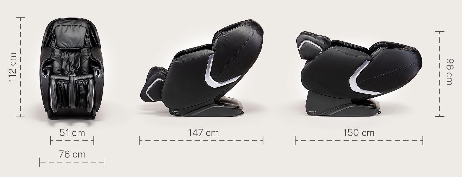 Fotel masujący Massaggio Eccellente 2 - wymiary