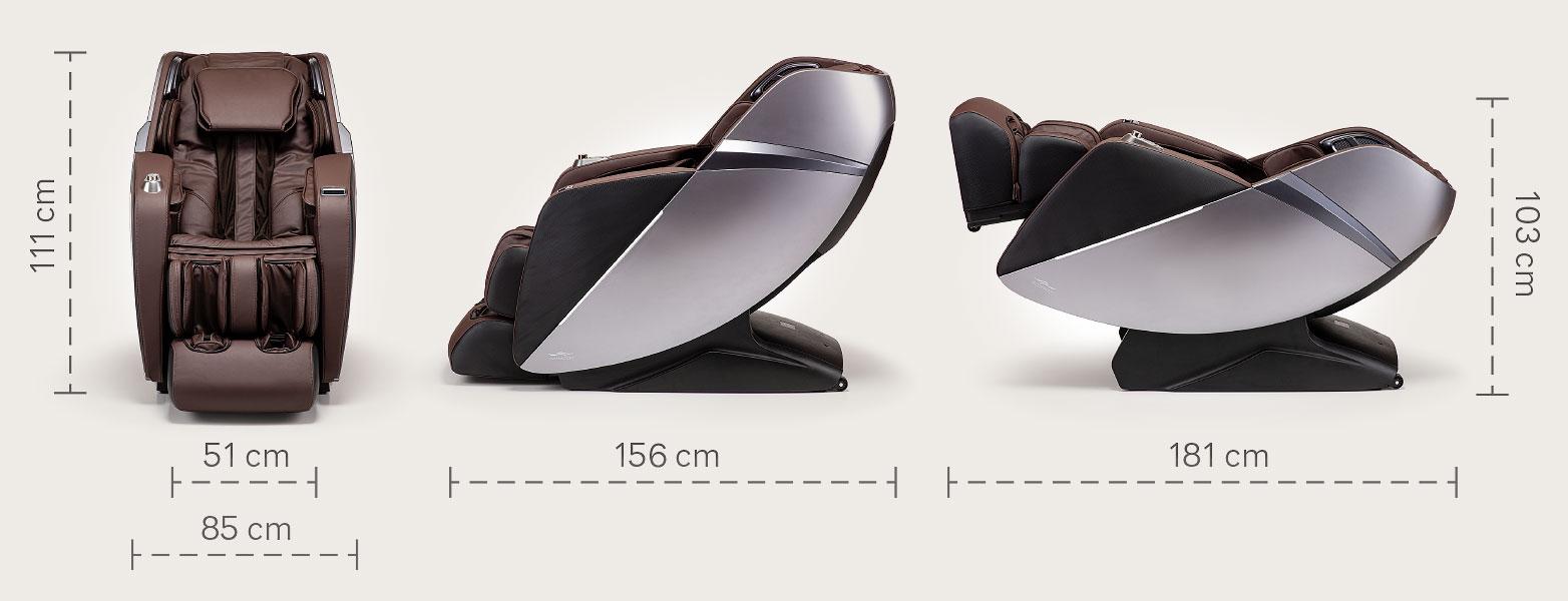 Fotel masujący Massaggio Esclusivo 2 - wymiary