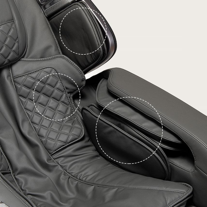 Fotel masujący Massaggio Stravagante 2 - poduszki powietrzne
